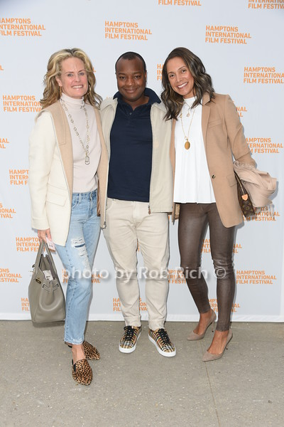 """Ashley McDermott, Ebs Burnough, and  Ellen Chube attend the screening of """"The Capote Tapes"""" at the Hampton International Film Festival at the UA Cinema in Southampton on October 12, 2019. photo by Rob Rich/SocietyAllure.com"""