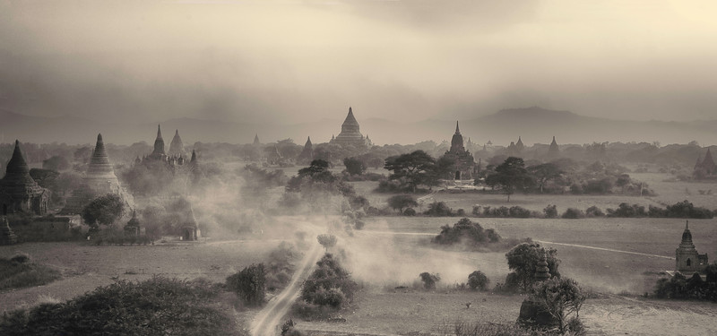 Sand Storm in Bagan.