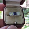 .40ctw 3-Stone Sapphire and Diamond Band by Relais 9