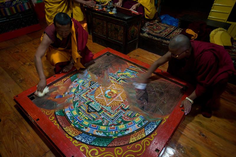 Sand Mandala ritual on Mani Rimdu Festival.
