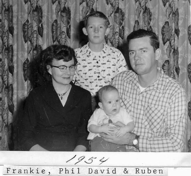 1954 family portrait: Frankie, Phil, David, Ruben