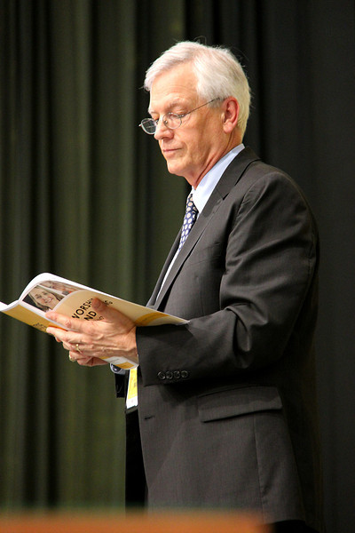 David Swartling, secretary of the ELCA, on stage during the opening of the Assembly.