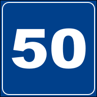 Italian Speed Limit - Advisory Sign