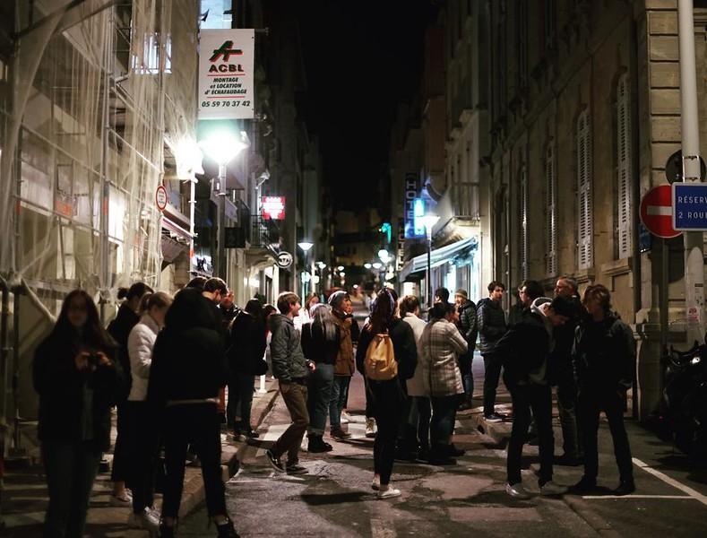 Walking to dinner #nightone #biarritz #valentinesday