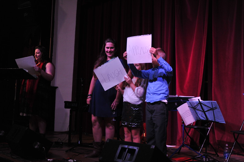 Complete with laugh and applause cue cards