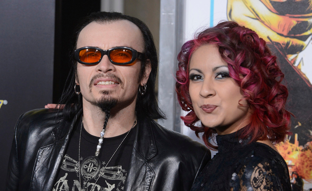 Description of . Cast member Billy Blair (L) and Veronica Hernandez attend the premiere of the film