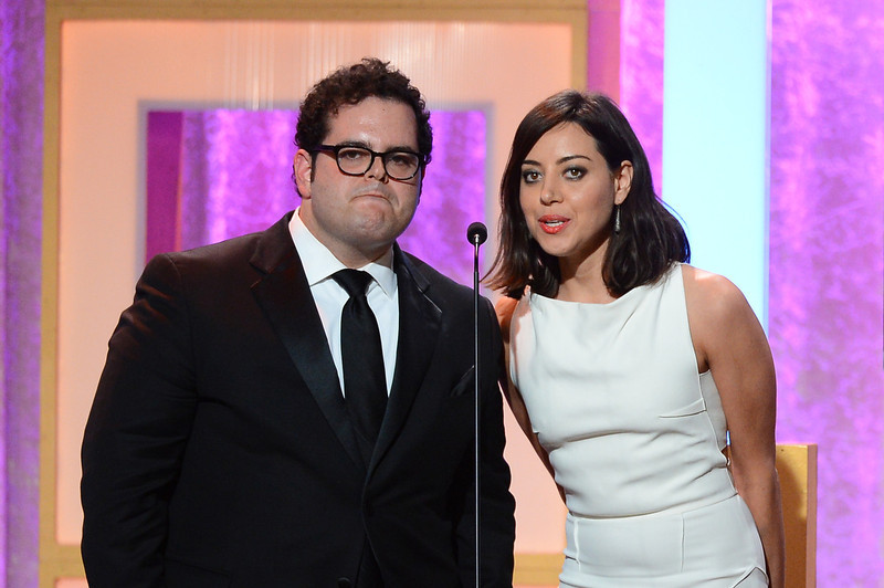 . Actors Josh Gad and Aubrey Plaza speak onstage during Broadcast Television Journalists Association\'s third annual Critics\' Choice Television Awards at The Beverly Hilton Hotel on June 10, 2013 in Los Angeles, California.  (Photo by Mark Davis/Getty Images for CCTA)