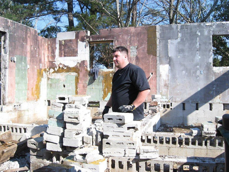 10  03-20 Removal of concrete blocks and clean up site. Shane Persaud