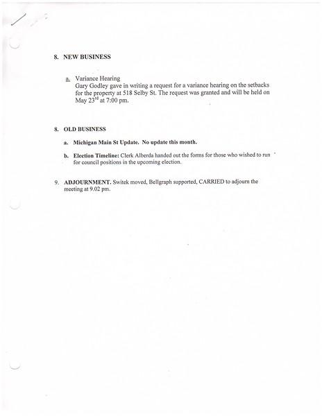 May 2016 Meeting Minutes