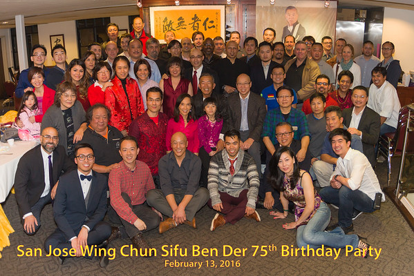 2016 Sifu Ben Der 75th Birthday Party