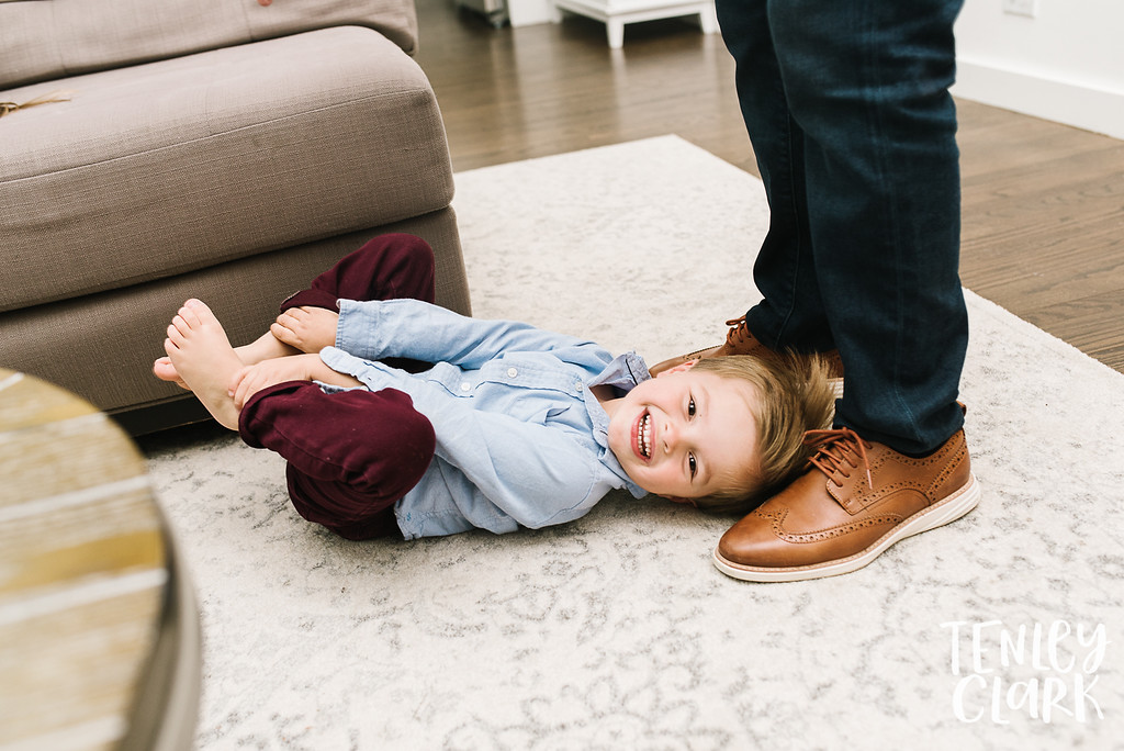 Lifestyle in-home family photoshoot in Marin, CA by Tenley Clark Photography.