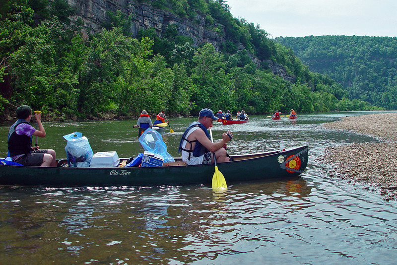 We were finally ready, and headed off down the river.  I tended towards being in the back of the group, bringing up the rear with Scott Thomas.