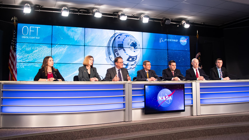 NASA holds press conference before Orbital Flight Test