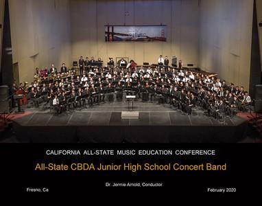 ALL STATE CBDA JUNIOR HIGH SCHOOL CONCERT BAND
