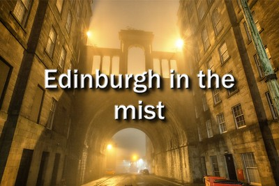 Edinburgh in the mist