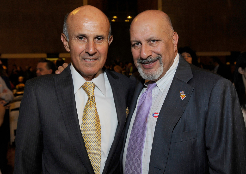 . Sheriff Lee Baca and LA City Councilman Dennis Zine. Jackie Lacey has her election night party at Historic Union Station in downtown Los Angeles. Los Angeles, CA. 11/6/12 (photos by John McCoy/L.A. Daily News)