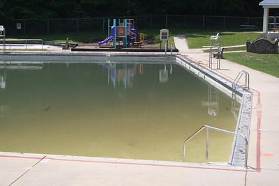 Bungalow Pool after Flash Storm, Flooding, Tamaqua (5-28-2012)