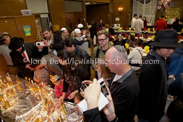 JAPAN, Hyogo Prefecture, Kobe. Hanukkah party (Dec. 25, 2016), Ohel Shelomo Synagogue (12.2016)