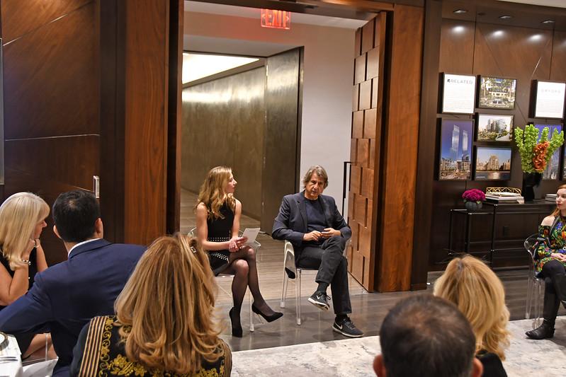 David Rockwell (& Atmosphere) AVENUE MAGAZINE Presents the SALON DINNER & CONVERSATION with Architect and Designer DAVID ROCKWELL  10 Hudson Yards NYC, USA - 2017.10.17 Credit: Lukas Maverick Greyson