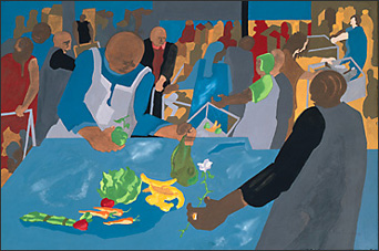 "Jacob Lawrence, ""Supermarket —Checkout Counter"" (1994)"