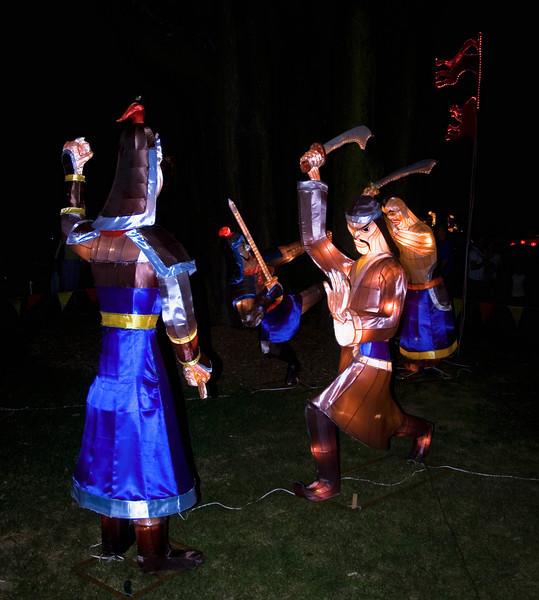 Chinese warriorsLantern FestivalAlbert ParkAucklandNew Zealand - 2 Mar 2007