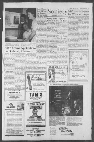Daily Trojan, Vol. 53, No. 107, April 10, 1962
