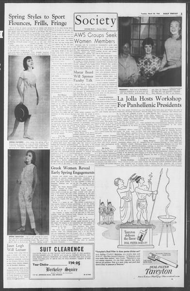 Daily Trojan, Vol. 53, No. 92, March 20, 1962