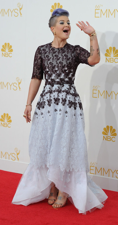 . Kelly Osbourne on the red carpet at the 66th Primetime Emmy Awards show at the Nokia Theatre in Los Angeles, California on Monday August 25, 2014. (Photo by John McCoy / Los Angeles Daily News)