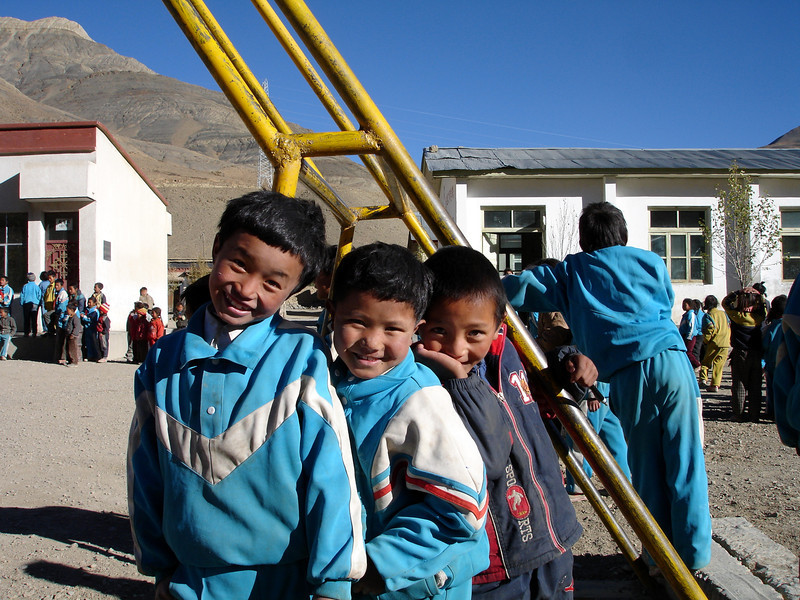 school kids - they loved seeing their picture on the digital camera screen