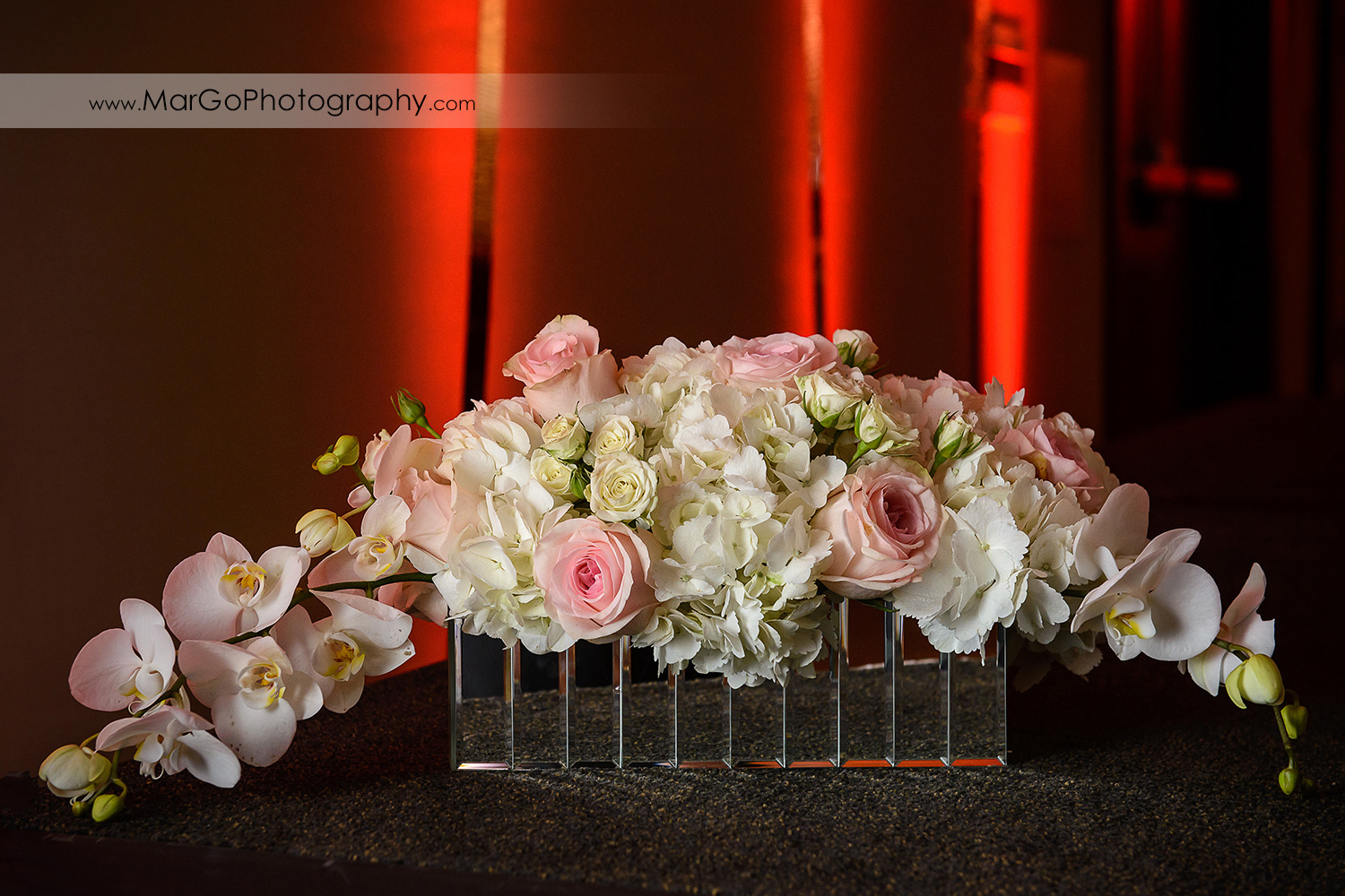 sweetheart table decor at Hilton San Francisco Airport Bayfront in Burlingame