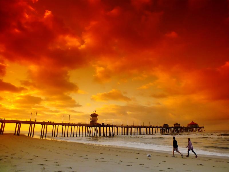 Morning Beach Walk Huntington Beach Pier.jpg