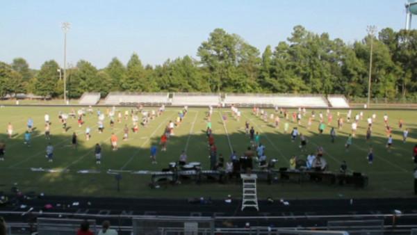 2010-08-26: Football Field Practice
