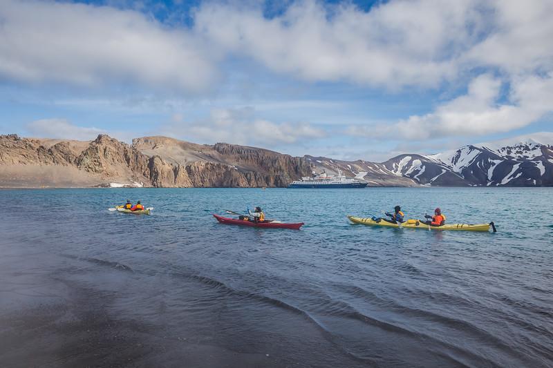 Kayaking at Deception Island