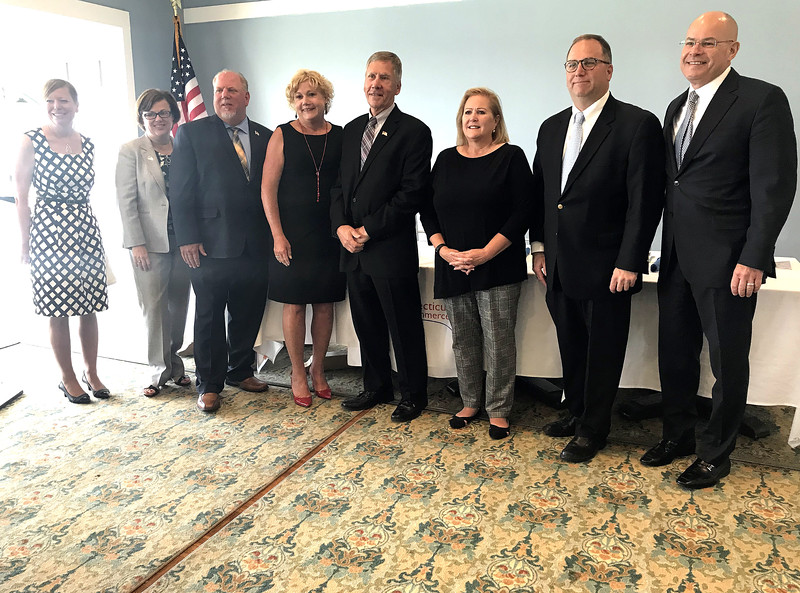 6/12/2019 Mike Orazzi | Staff Wednesday morning's state of the city & towns breakfast hosted by the Central Connecticut Chambers of Commerce at Chippanee Golf Club in Bristol.