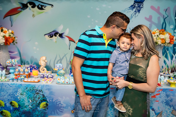 Aniversário 1 Aninho Felipe - Fundo do mar