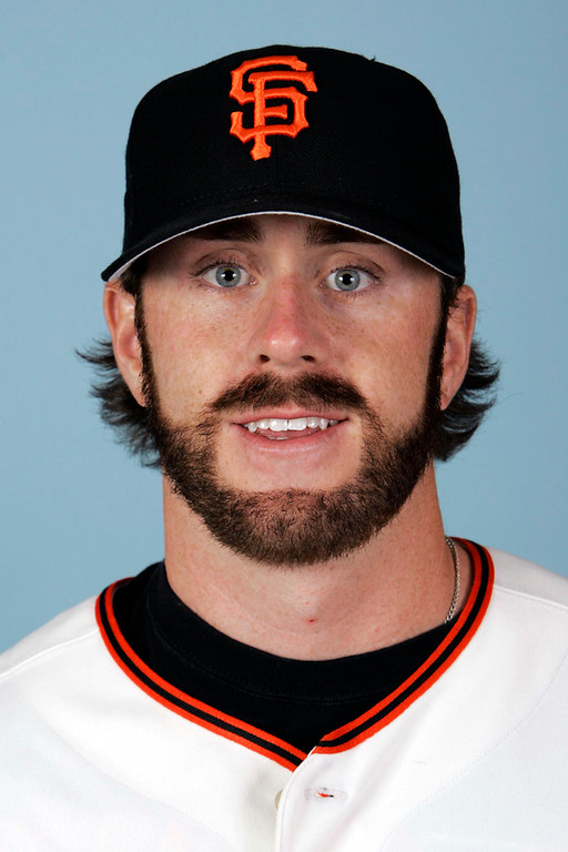 . This is a 2007 file photo of Brian Wilson of the San Francsico Giants baseball team. (AP Photo/Eric Risberg)