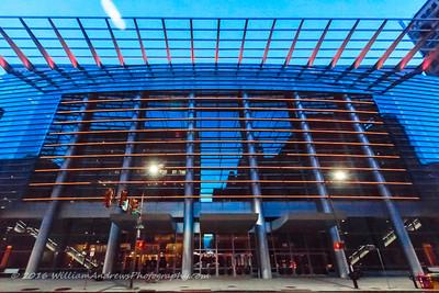 Pennsylvania Convention Center Orange Lights