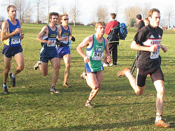 2005 Canadian XC Championships - Finn leads a pack