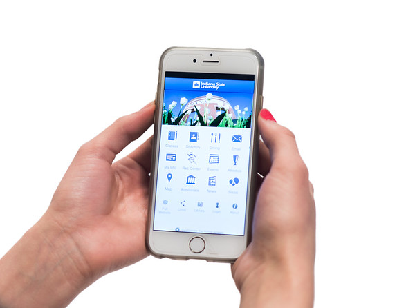 iphone with Indiana State App 2015