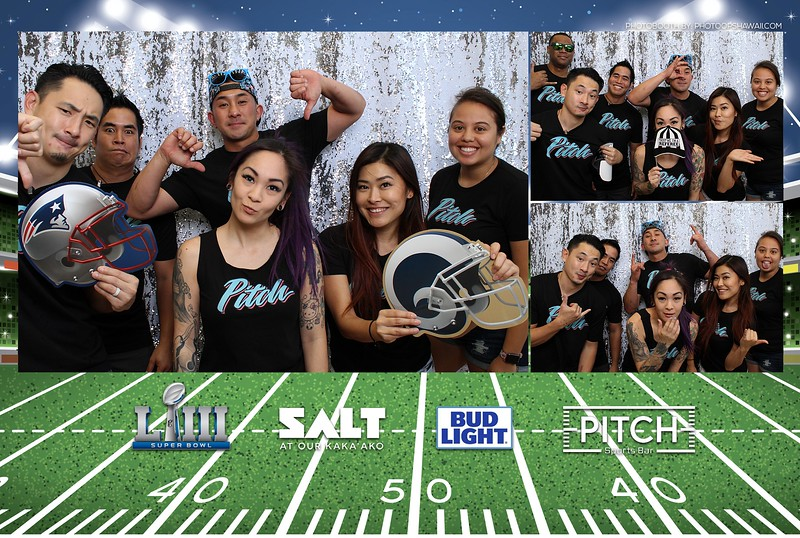 Pitch Sportsbar - SuperBowl 2019 (Photo Booth Photos)