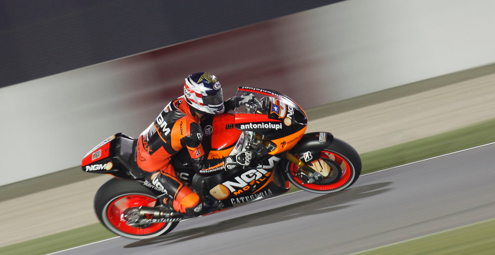 . FTR Kawasaki MotoGP rider Colin Edwards of the U.S. rides during a free practice for the Qatar Grand Prix at Losail International Circuit in Doha April 4, 2013. REUTERS/Mohammed Dabbous