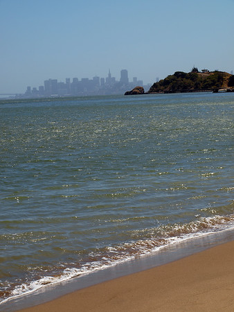 San Francisco Skyline from Quarry Beach on Angel Island