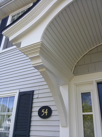 Front Porch with Wooden Bracket 10T11 Smooth Finish