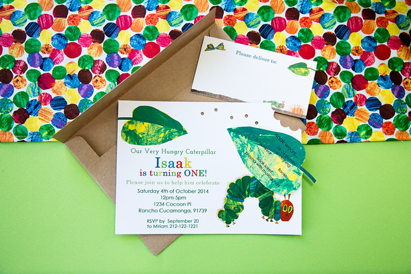 Isaak's Very Hungry Caterpillar First Birthday