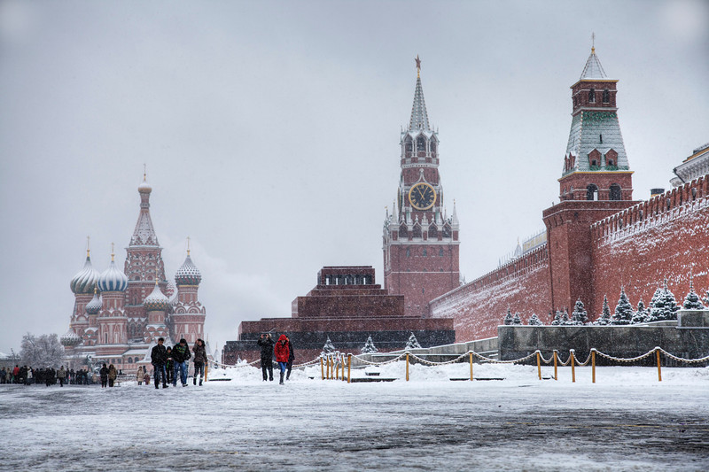 Moscow's Red Square is even more iconic with fresh snow. (HDR)