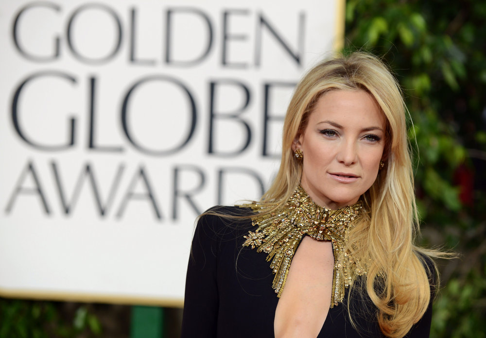 Description of . Actress Kate Hudson wins our vote for the best dressed at the 70th Annual Golden Globe Awards held at The Beverly Hilton Hotel on January 13, 2013 in Beverly Hills, California.  (Photo by Jason Merritt/Getty Images)
