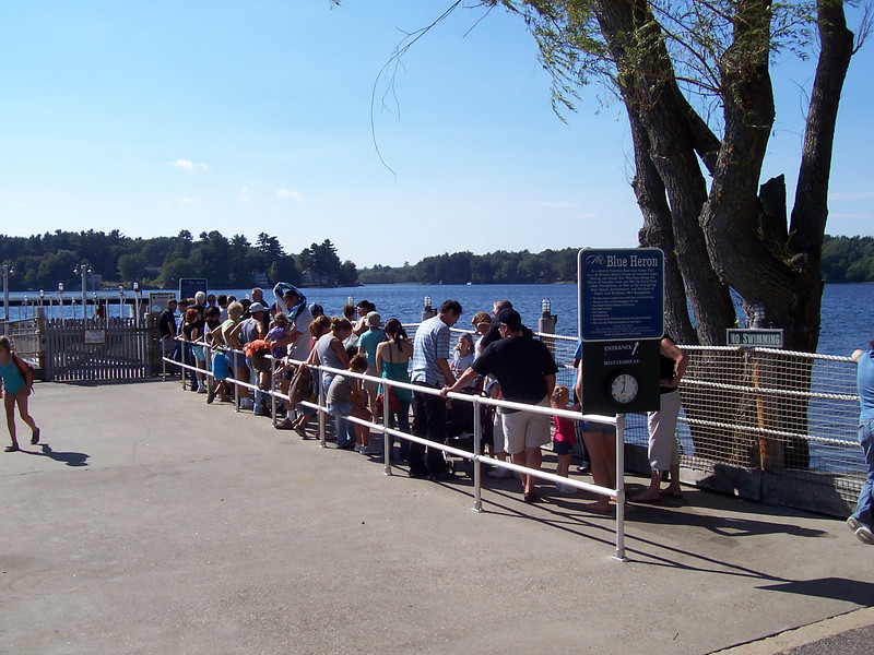 The Blue Heron queue at 3:27pm.