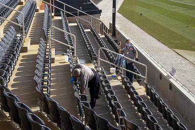 Housekeeping Cleaning Baseball Stadium