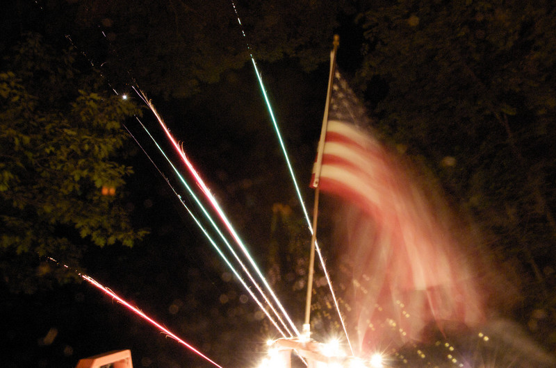 We set off fire works for the first time at our Riverhouse to celebrate the 4th of July.