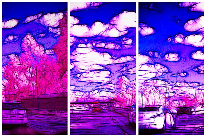 Fractal Freeway Triptych